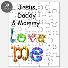 Jesus Daddy and Mommy Love Me Puzzle