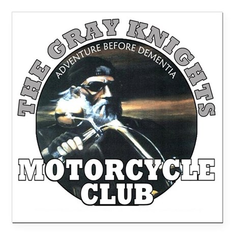 "grayknights Square Car Magnet 3"" x 3"""