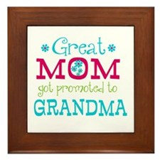 Great Mom Promoted to Grandma Framed Tile