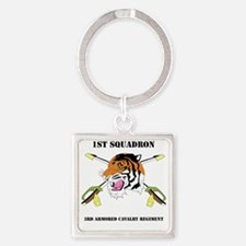 DUI-1-3RD ARMORED CAVALRY REGIMENT Square Keychain