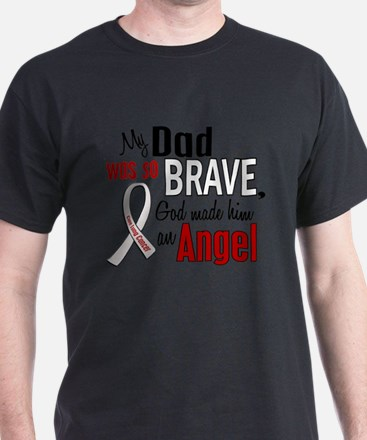 Angel 1 DAD Lung Cancer T-Shirt
