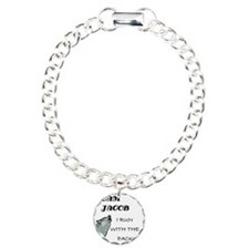 2-RUN WITH THE PACK Charm Bracelet, One Charm