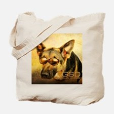 GSD_glasses-10x12 Tote Bag