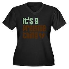 ipt.logo2KX2 Women's Plus Size Dark V-Neck T-Shirt