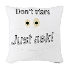 dontstare Woven Throw Pillow