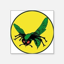"greenhornet_masklogo Square Sticker 3"" x 3"""