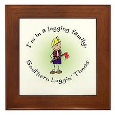 Loggin Family Framed Tile