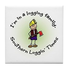 Loggin Family Tile Coaster