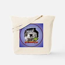 Punxsutawney Phils Shadow-Circle Tote Bag