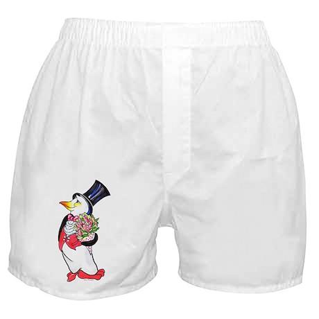 Penguin Valentine's Day Boxer Shorts