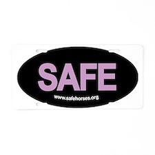 SAFE hat patch Aluminum License Plate