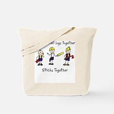 Log Together Stick Together Tote Bag