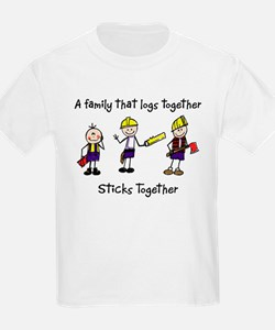 Log Together Stick Together Kids T-Shirt