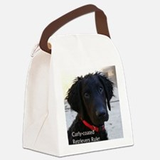 Puppy head image Canvas Lunch Bag