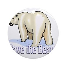 save bears_edited-1 Round Ornament