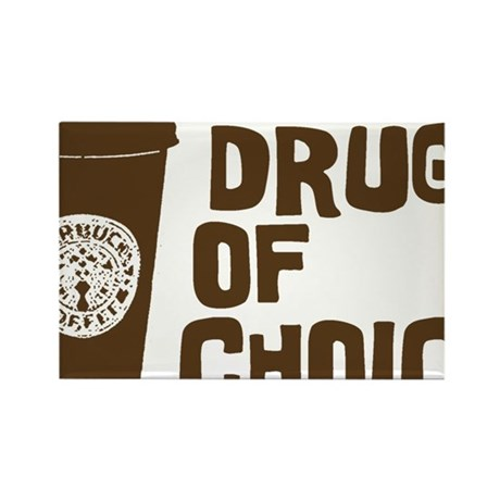 Drug of Choice brown Rectangle Magnet