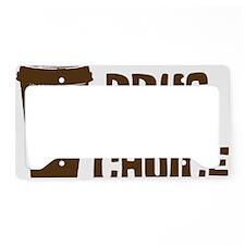 Drug of Choice brown License Plate Holder