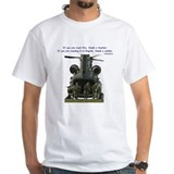 Helicopter Mens White T-shirts