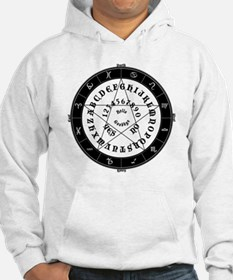 Black on White Tee Roung Hoodie