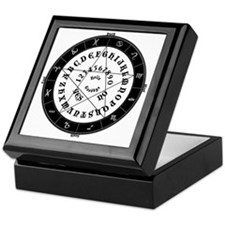 Black on White Tee Roung Keepsake Box