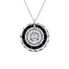 Black on White Tee Roung Necklace