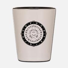 Black on White Tee Roung Shot Glass