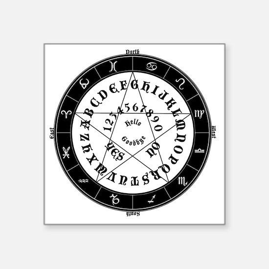 "Black on White Tee Roung Square Sticker 3"" x 3"""