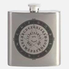 Black on White Tee Roung Flask
