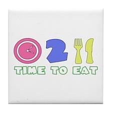 Time To Eat Tile Coaster