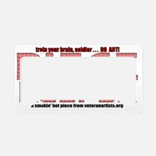 print-piecekeeper-red1 License Plate Holder