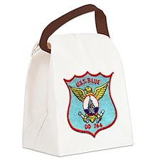 blue patch Canvas Lunch Bag