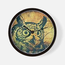 Rustic Grunge Owl Wall Clock