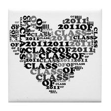 WORD CLASS OF 2011 Tile Coaster