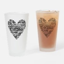 WORD CLASS OF 2011 Drinking Glass