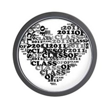 WORD CLASS OF 2011 Wall Clock