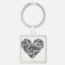 WORD CLASS OF 2011 Square Keychain