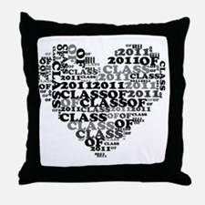 WORD CLASS OF 2011 Throw Pillow
