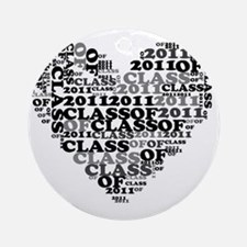 WORD CLASS OF 2011 Round Ornament