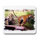 Asian Running Tigers Wild Animal Mousepad