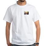 Asian Running Tigers Wild Animal White T-Shirt