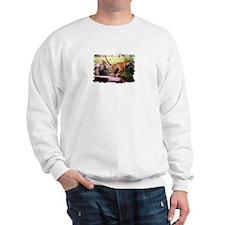 Asian Running Tigers Wild Animal Sweatshirt