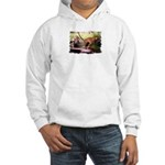Asian Running Tigers Wild Animal Hooded Sweatshirt