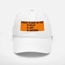 3 BOXES TO KEEP US FREE(small framed print) Baseball Baseball Cap