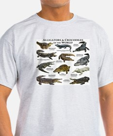 Alligator & Crocodiles of the World T-Shirt