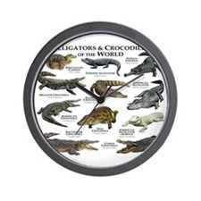 Alligator & Crocodiles of the World Wall Clock
