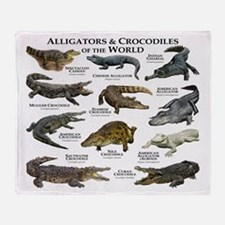 Alligator & Crocodiles of the World Throw Blanket
