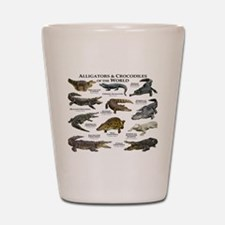 Alligator & Crocodiles of the World Shot Glass