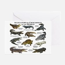 Alligator & Crocodiles of the World Greeting Cards