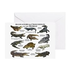 Alligator & Crocodiles of the World Greeting Card