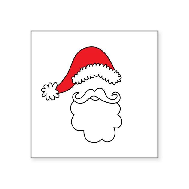 Santa hat beard sticker by mightyawesome